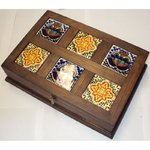 jewelry box with 6 tiles