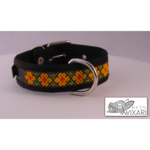 SHort Huichol type A dog collar